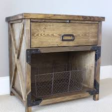 a wooden night stand with a drawer and shelf