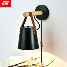 wall sconce lamps with plug led wall sconces lamps with plug living room e27 nordic wooden wall sconce lamps