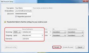 Email setup - Mozilla Thunderbird   Help & Support - Plusnet