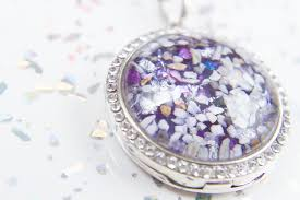 crystal embellished ashes in glass
