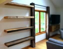 floating shelves with led lights rustic beautiful shelf at diy lig