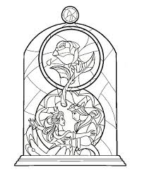 beauty and the beast stained gl idea colour ing soon top 10 free printable beauty and the beast coloring pages