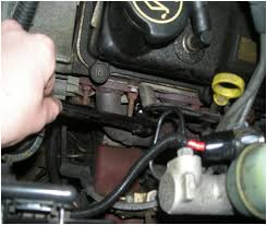 spark plug and spark plug wire ('94 '04 v6) installation 1999 ford mustang starter location at 2001 Mustang Starter Diagram