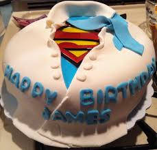 My Husbands Superman Cake I Made For His Birthday Cake Let Them