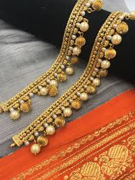 Paijan Design For Baby Payal Moti And Golden Beads Anklet Designs Gold Anklet