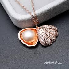 aobei pearl handmade shell pearl pendant necklace pearl necklace pearl choker necklace ets s447