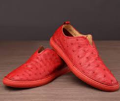 ostrich shoes genuine ostrich skin shoes for men red exhibition