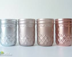 Small Picture Pink Copper Rose Gold Decor Painted Mason Jars Home Decor