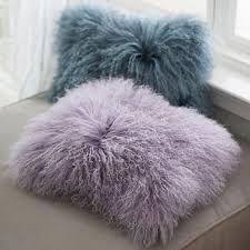 mongolian fur pillow. Fine Mongolian Mongolian Fur Pillow Cover For