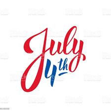 4 Luglio Logo Lettering Per La Celebrazione Del Giorno Dellindipendenza  Degli Stati Uniti - Immagini vettoriali stock e altre immagini di 4 Luglio  - iStock