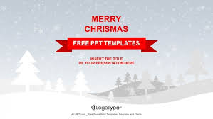Snow Templates Merry Christmas With Snowy Winter Ppt Templates