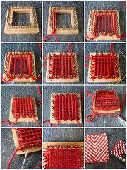 Weaving Loom Patterns Adorable 48 Best Pin Loom Weaving Images On Pinterest Pin Weaving Weaving