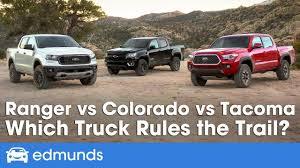 Toyota Truck Gas Mileage Chart Ford Ranger Vs Toyota Tacoma Vs Chevy Colorado 2019 Truck Comparison Test Edmunds