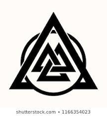sacred geometry black ethnic totemic geometrical tattoo crossed triangles sacred symbol of vikings