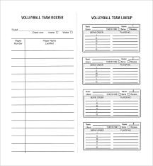 Roster Sheet Template Volleyball Roster Template Mobile Discoveries