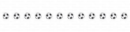 サッカーボールのライン線の無料イラスト素材イラストイメージ
