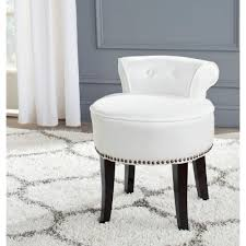 appealing safavieh georgia white poly cotton vanity stool mcr4546t the home pertaining to appealing vanity stool
