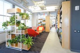 office greenery. We Matched The Wood Tones And White Finishes Of Office To Create Individualized Meeting Areas With Colorful Lush Backdrops. Greenery