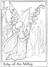 Fairy Printable Colouring Page L Is For Lily Of The Valley