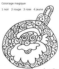 Coloriage De Magique Pere Noel Coloriage Magique De Noel Cm1 A Imprimer L