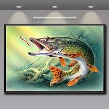 artwork animals fish water art silk fabric poster prints home wall decor painting 12x18 16x24 20x30