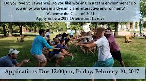 orientation leader program st lawrence university student sluolstaff