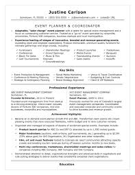 Special Events Coordinator Resume Objective Event Planning Keywords