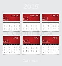 Calendars For June And July 2015 Simple 2015 Year Calendar January Stock Vector