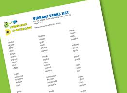 List Of Active Verbs Vibrant Verbs List For Kids Super Easy Storytelling