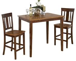 Jofran Kura Espresso And Canyon Gold Counter Height Dining Table
