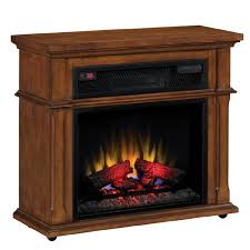 duraflame 33 in w 5 200 btu vintage mahogany wood infrared quartz electric fireplace with