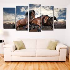 on brown wall art canvas with brown horses riding multi panel canvas wall art elephantstock