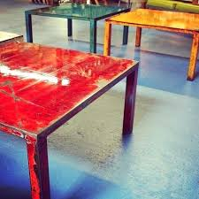 colored coffee tables hand crafted steel coffee tables with multi layered color punch by dangerous color champagne coloured coffee tables