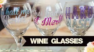 Diy Glass Cup Designs Diy Disney Wine Glasses With Your Cricut Explore Air