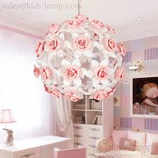 interesting pink flower ball chandelier for girls room kids lamp regarding awesome house chandelier girls room designs
