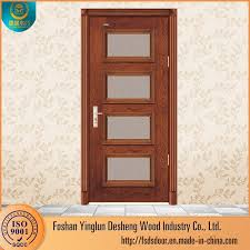 desheng wooden flash glass panel doors design