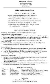 Warehouse Objective Resume Resume Objective Examples Warehouse Examples of Resumes 40