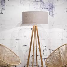 Everest Floor Lamp Linen Light Grey Goodmojo