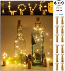 Amazon Cork Bottle Lights Amazon Com Micandle Wine Bottle Lights With Cork 20led 12