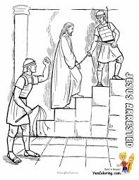 Jesus Arrested Coloring Sheet At Yescoloring Http