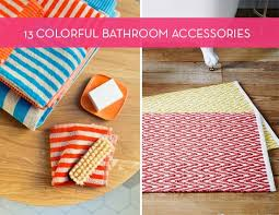 colorful bathroom accessories. 13 Cool And Colorful Bathroom Accessories To Brighten Your Space | Curbly