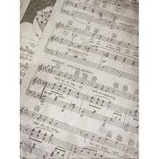 Music Paper Print Peel N Stick Poster Of Antique Sheet Music Notes Vintage Music Paper Poster 24x16 Adhesive Sticker Poster Print