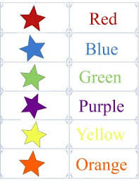Shapes and colours flash cards. Printable Color Flashcards