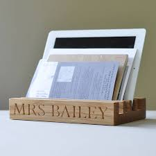 Kitchen Tidy Personalised Solid Oak Desk Or Kitchen Tidy By The Oak Rope
