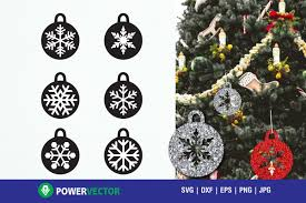 christmas tree decor baubles cutting files svg dxf eps exle image 1