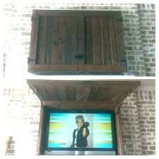 outdoor wall hanging tv cabinet
