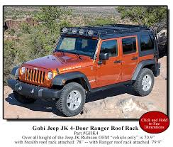 off road unlimited roof racks gobi stealth roof rack tom sheppard says not to put crap on your