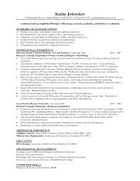 resume biology