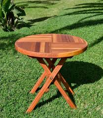 round folding table options small 30 inch diameter no seating redwood