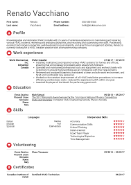 Resume Examples By Real People Hvac Installer Resume